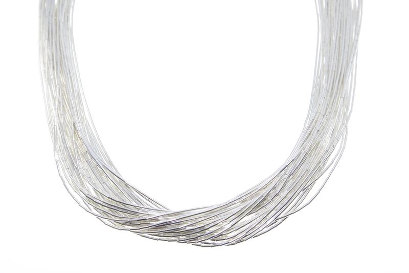 4d894449d4574 Liquid Silver Necklace - 30 Strand